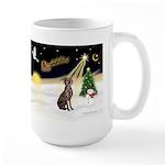 Night Flight/Weimaraner Large Mug