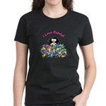 I Love Candy Penguin Women's Dark T-Shirt