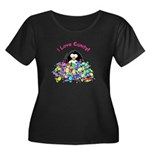 I Love Candy Penguin Women's Plus Size Scoop Neck