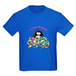 I Love Candy Penguin Kids Dark T-Shirt