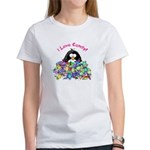 I Love Candy Penguin Women's T-Shirt