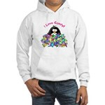 I Love Candy Penguin Hooded Sweatshirt