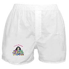 I Love Candy Penguin Boxer Shorts