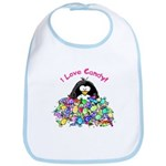 I Love Candy Penguin Bib
