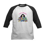 I Love Candy Penguin Kids Baseball Jersey