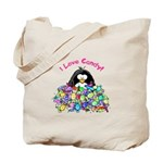 I Love Candy Penguin Tote Bag