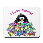 I Love Candy Penguin Mousepad