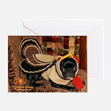 Turkey Day Daisy Greeting Card