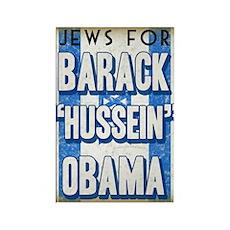 Jews For Barack Obama Rectangle Magnet