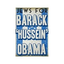 Jews For Barack Obama Rectangle Magnet