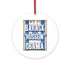 Jews For Barack Obama Ornament (Round)
