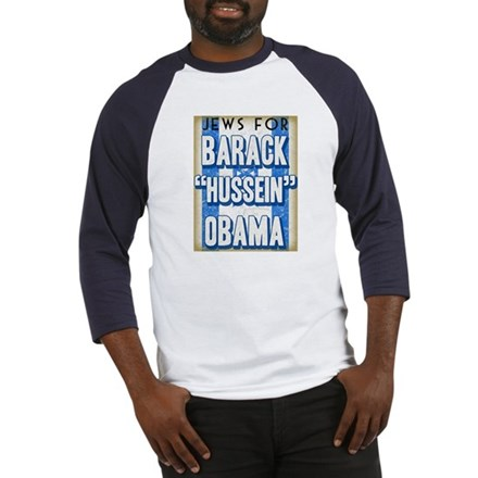 Jews For Barack Obama Baseball Jersey