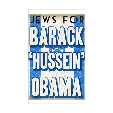 Jews For Barack Obama Rectangle Decal