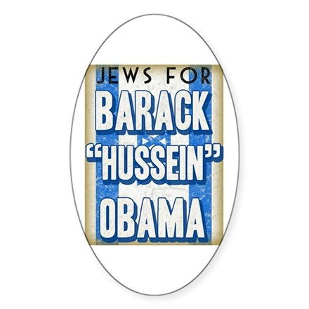 Jews For Barack Obama Oval Decal