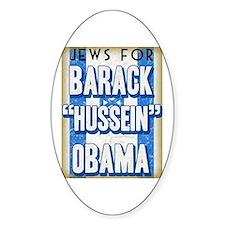 Jews For Barack Obama Oval Decal