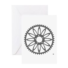 Flower Chainring Greeting Card rhp3