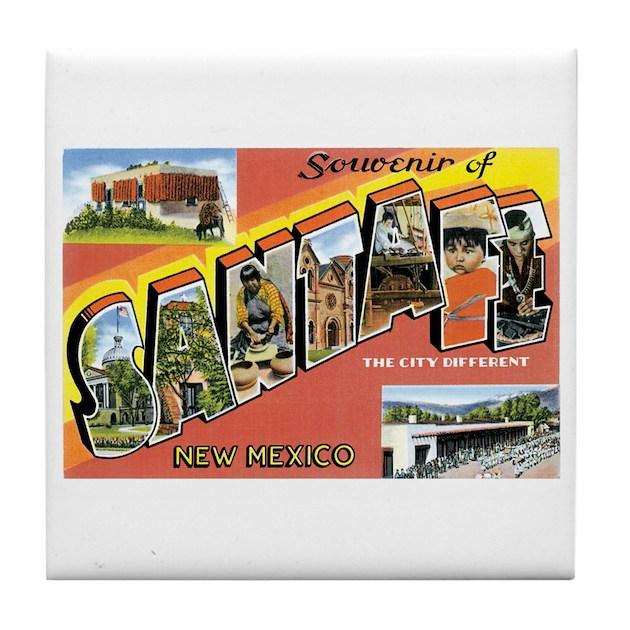 Eyeglass Frames Santa Fe Nm : Santa Fe New Mexico NM Tile Coaster by caferetro