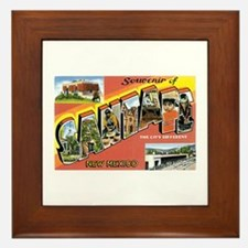 Santa Fe New Mexico NM Framed Tile