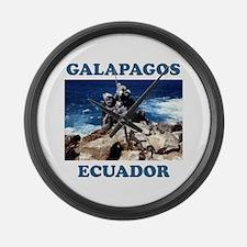 GALAPAGOS ECUADOR Large Wall Clock