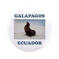 """GALAPAGOS SEA LION 3.5"""" Button"""