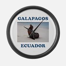 GALAPAGOS SEA LION Large Wall Clock