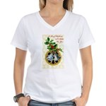 Bells and Holly Women's V-Neck T-Shirt