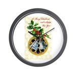 Bells and Holly Wall Clock