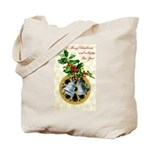 Bells and Holly Tote Bag