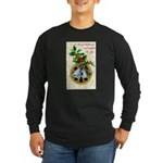 Bells and Holly Long Sleeve Dark T-Shirt