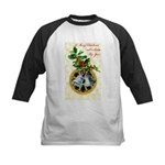 Bells and Holly Kids Baseball Jersey