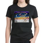XmasSunrise/Pyrenees 1 Women's Dark T-Shirt