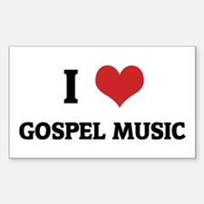 I Love Gospel Music Rectangle Decal