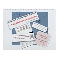 Cute Humorous tax quotes Wall Calendar