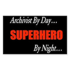 Superhero Archivist Rectangle Decal