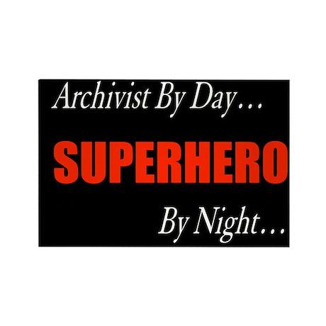 Superhero Archivist Rectangle Magnet (10 pack)