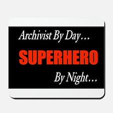 Superhero Archivist Mousepad