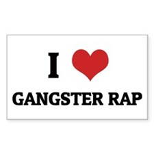 I Love Gangster Rap Rectangle Bumper Stickers