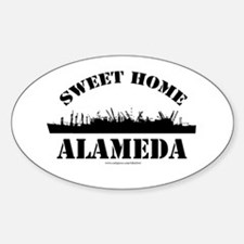 Sweet Home Alameda Oval Decal
