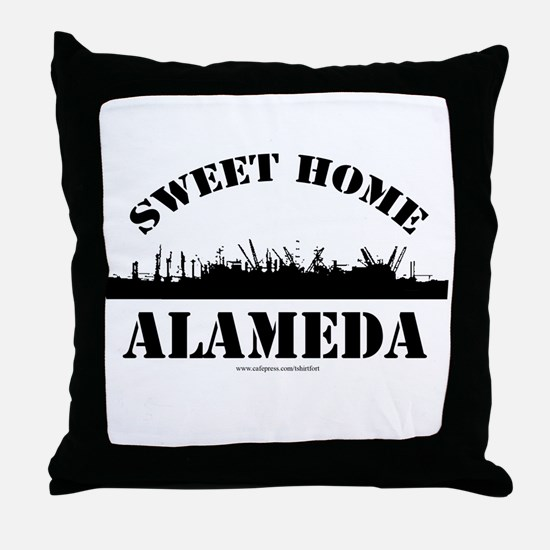 Sweet Home Alameda Throw Pillow