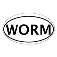WORM Oval Decal