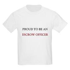 Proud To Be A ESCROW OFFICER Kids Light T-Shirt