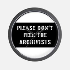archivist Gift Wall Clock
