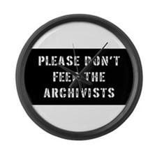 archivist Gift Large Wall Clock