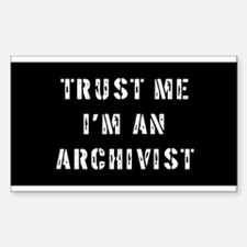 Archivist Gift Rectangle Decal