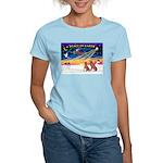 XmasSunrise/2 Weimaraners Women's Light T-Shirt
