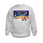 XmasSunrise/2 Weimaraners Kids Sweatshirt