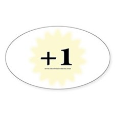 +1 Oval Decal
