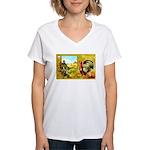 Thanksgiving Americana Women's V-Neck T-Shirt