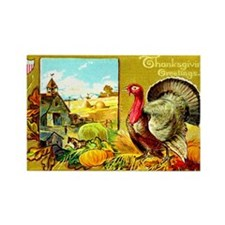 Thanksgiving Americana Rectangle Magnet