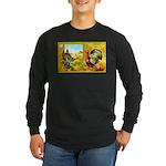 Thanksgiving Americana Long Sleeve Dark T-Shirt